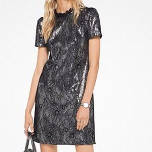 Lace and sequin cocktail dress!!